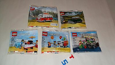 Choice LEGO PROMO Polybags 40078 Hot Dog 40079 VW T1 40108 Balloon 40109 40140