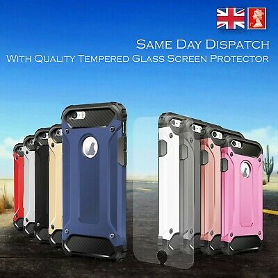Dust proof Shockproof Armour Heavy Duty Tough Case Cover iPhone 5 SE 6 7 8 X 11