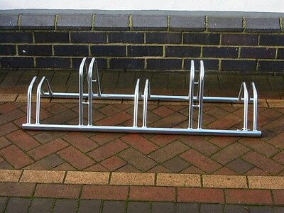 Floor Mounted Heavy Duty Dual Height Cycle Rack Galvanized 2, 3, 4 and 5 Section