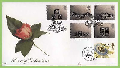 G.B. 2001 Occasions set on Buckingham Valentine First Day Cover, Lover