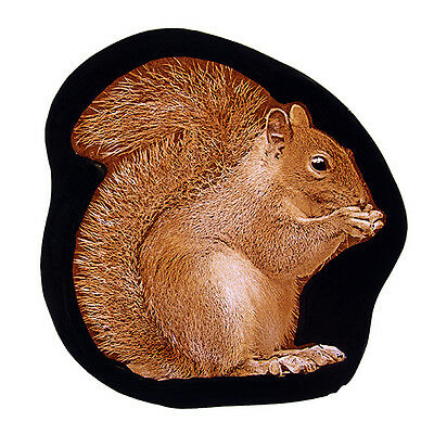 Squirrel stained glass fragment, kilnfired, squirrel suncatcher, squirrel glass