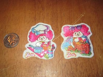 Lot Of 2 Diff Vintage Poochie Patch Sweet Looking 2.5 Inches  Rare
