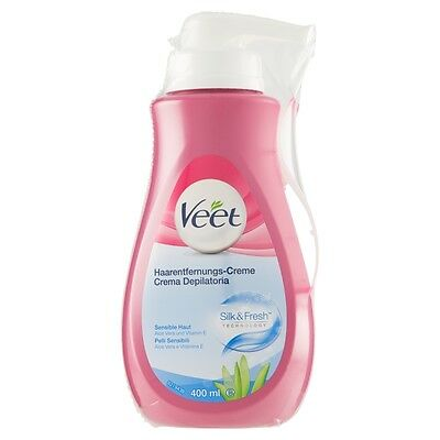 Veet Crema Depilatoria Silk & Fresh Technology Pelli Sensibili 400 ml