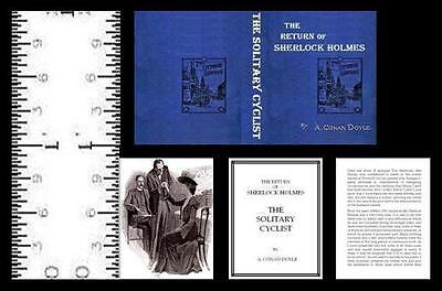 1:12 Miniature Book Sherlock Holmes Solitary Cyclist Illustrated