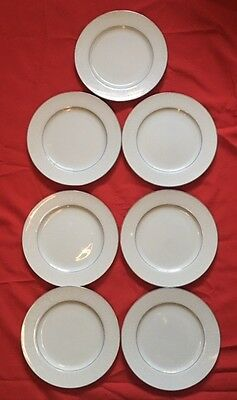 """Lot Of 7 Crown Victoria Lovelace 10.25"""" Dinner Plates Fine China Made In Japan"""