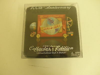 Etch A Sketch Ohio Art 100th Anniversary Collector Edition Tin RED CHROME