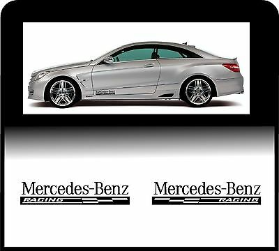 For MERCEDES-BENZ - 2 x RACING CHECKS - Body Panel - CAR DECAL STICKER AMG