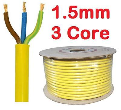 Yellow Arctic Grade Cable 3183 AG 3 Core 1.5mm Flex Outdoor Wire sold per metre