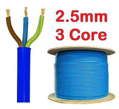 2.5mm BLUE Arctic 240v 3 Core Flex Cable Outdoor Wire 3183 AG sold per metre