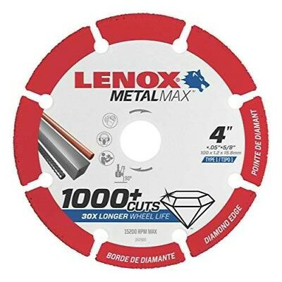 "Lenox Tools 1972920 METALMAX Diamond Edge Cutoff Wheel, 4"" x 5/8"""