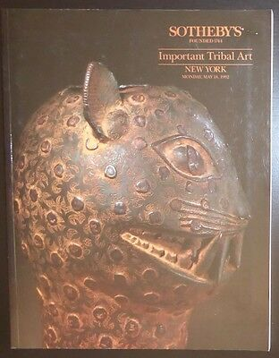 Auction Catalogue Sotheby's New York Important Tribal Art May 18, 1992 African