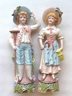 "FIGURINES 2 ANTIQUE VICTORIAN GERMANY No.4533 - 8 ""(20.3cm)"