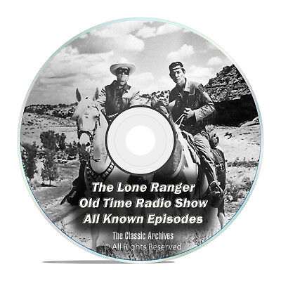 The Lone Ranger, 2,357 Shows, Complete Set, Old Time Radio MP3 2 DVD SET F77