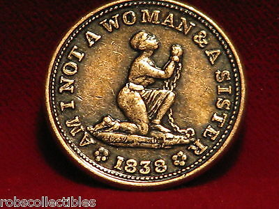 1838 USA Anti-slavery Hard Time tokens - (Modern Copies) Comes as a set of 2
