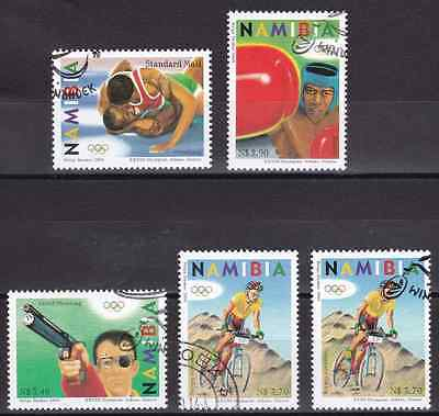 NAMIBIA - 2004 - Olympic Summer Games, Athens. Complete set, 5v. First day stamp