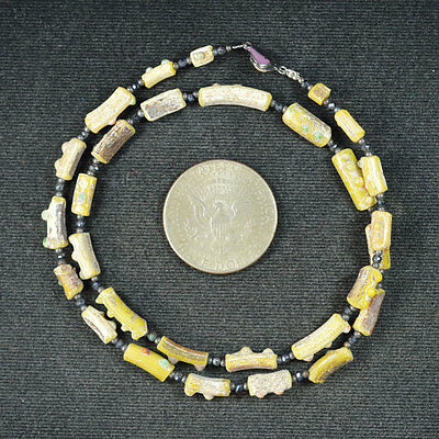 Ancient Roman Glass Beads 1 Medium Strand 100 -200 Bc 666