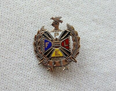 Antique FPLE Gold Tone Vintage Pin Pythian Sisters Knights of Pythias Fraternal