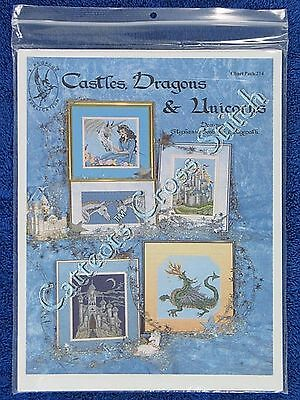 Cross Stitch Pattern Castles Dragon & Unicorns Fairy