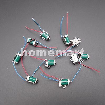 10PCS DC 5V 6V Miniature Solenoid Push Pull Type Inhaled Micro Electromagnet NEW
