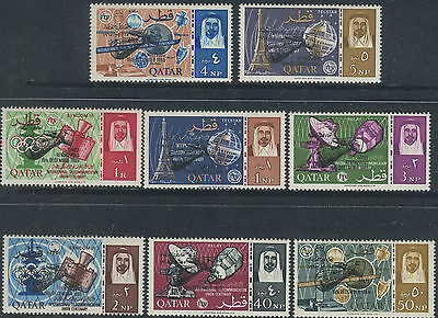Qatar Sc# 91-98 Commemorate The Rendezvous In Space Of Gemini 6 & 7 UMM Set Of 8