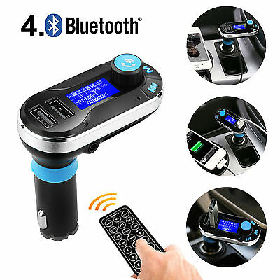 Car MP3 Player Bluetooth Hands-free Kit with Double USB Port for Charging iPhone