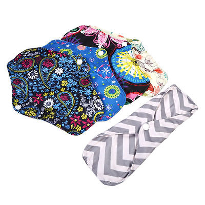 Women Cloth Washable Menstrual Pant Liner Reusable Charcoal Bamboo Sanitary Pads
