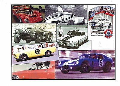 Peter Brock Signed SAAC 35 Shelby American Automobile Club Poster Cobra Mustang