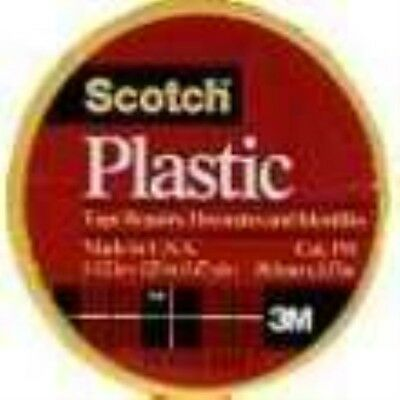 """3M 191YL Scotch 1-1/2"""" x 125"""" Colored Plastic Tape, Yellow (1 Pack)"""