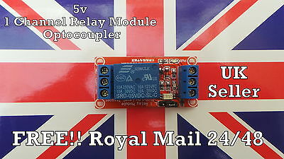 5V 1 Channel Relay Module with Opto H/L High Level Trigger for Arduino UK