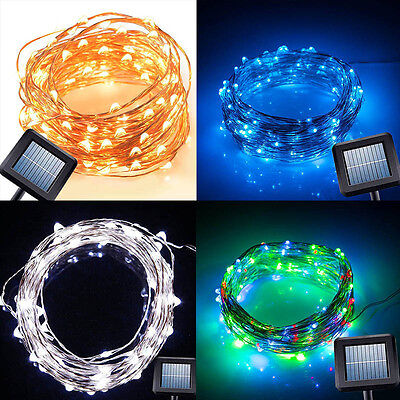 Solar Power String Light 10M 100 Led Copper Wire String Fairy Light For Garden