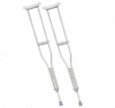 Drive Aluminium Underarm Crutches Set Adjustable Lightweight Soft Grip Pair New