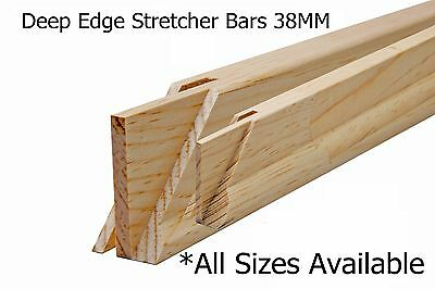 Heavy Duty Wooden Canvas Artists Frame 38Mm Deep Edge Stretcher Bars In Pairs