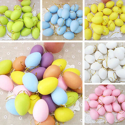12pcs DIY Plastic Eggs Easter Wedding Party Home Decor Easter Child Painting Toy