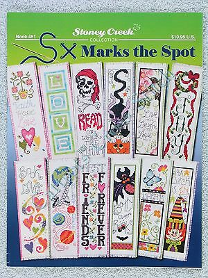 Cross Stitch Pattern S X Marks The Spot 12 Bookmark Designs Fun Floral Colourful
