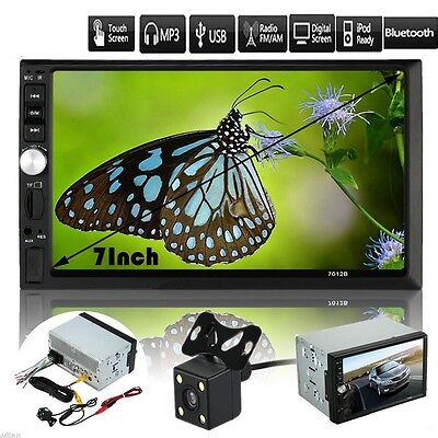 HOT 7'' HD Touch Scree Car Stereo MP5 Player MP3 Radio Bluetooth USB AUX Camera