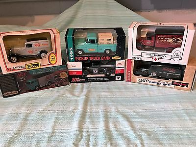 6 Vintage Truck banks all New in the box