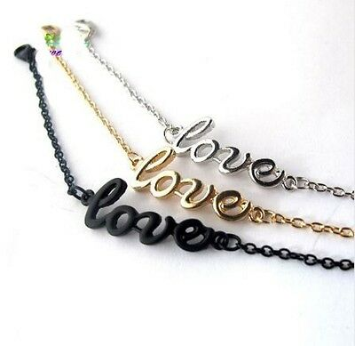 "Chaine de cheville luxe sigle "" love  "" sexy bracelet pied  taille  A44"