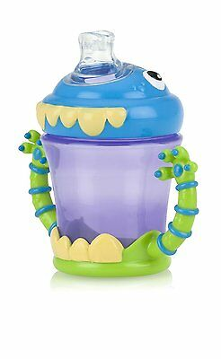 Two Handle Monster No Spill Spout Cup Sippy Baby Care Drink Utensil Beverage Aid