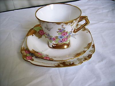 Exquesit Antique Royal Standard Bone China Tea trio-Heavily Gilded