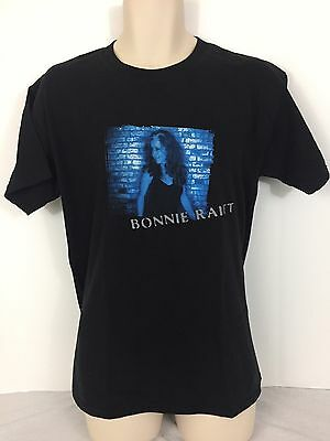 "Bonnie Raitt 2002 ""Silver Lining Tour"" Short Sleeve Black Shirt Men's Medium"