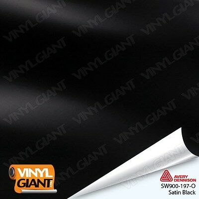 AVERY SW900-197-O SATIN BLACK Vinyl Vehicle Car Wrap Decal Film