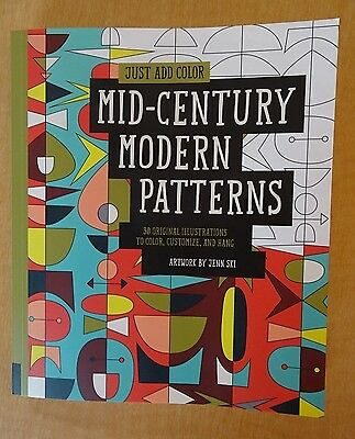 JUST ADD Color Mid-Century Modern Patterns - Coloring Book - $5.99 ...