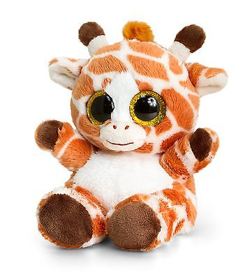 Keel Toys Animotsu 15cm giraffe Beanie Cuddly Soft Toy Plush SF0955