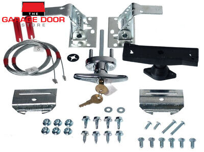 Garage Door Lock Kits - T Handle, Emergency Egress, Slide Lock - Roller & Panel