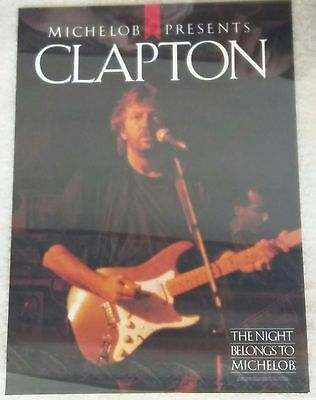 Eric Clapton / Cream / 1987 Michelob Beer Promotional Concert / Tour Poster