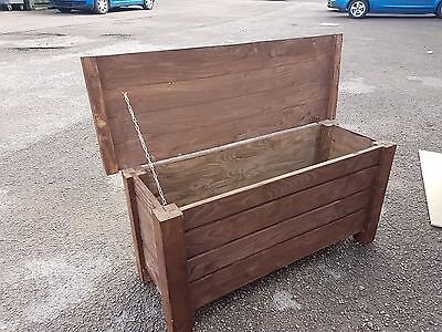 Extra Large Wooden Trunk 100 cm Long of Solid Wood Spruce In Brown Colour