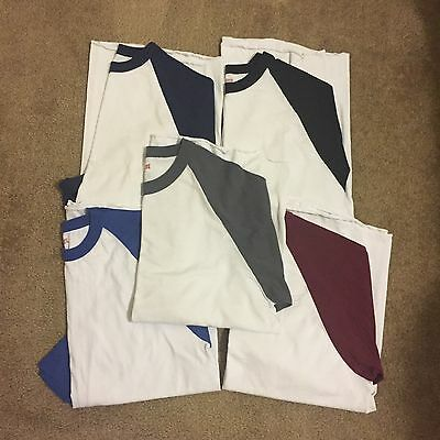 Lot of 5 Soffe 3/4 Shirts Men's Size Large