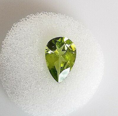 2.48ct. Natural Genuine Peridot Pear Shape Faceted Loose Stone 8X12mm Gemstone