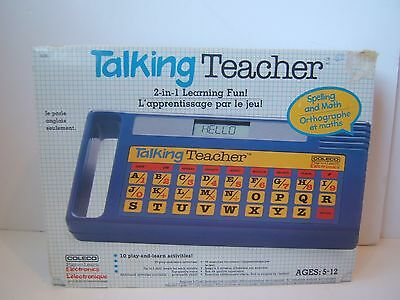 Coleco Talking Teacher 1985 w/Box + 2 Modules VTG Childs Educational Toy Works