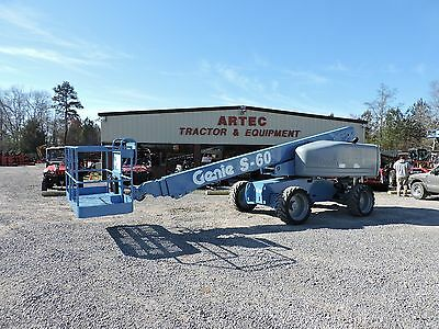 2007 Genie S60 Boom Lift - 60' Reach -  8' Basket - 4X4 - Diesel Engine!!